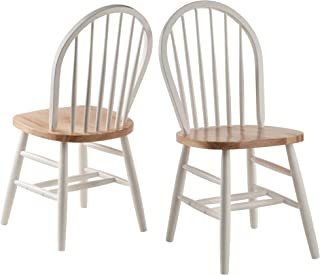 windsor chair set of 2 natural