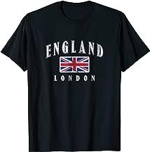London England Flag T-shirt Souvenir Travel British Uk Gift