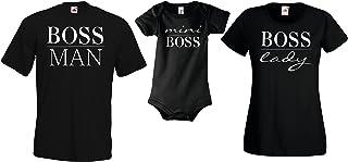 Youth Designz Baby Herren Damen T-Shirt Strampler Set Mini Boss Lady Boss und Boss Man