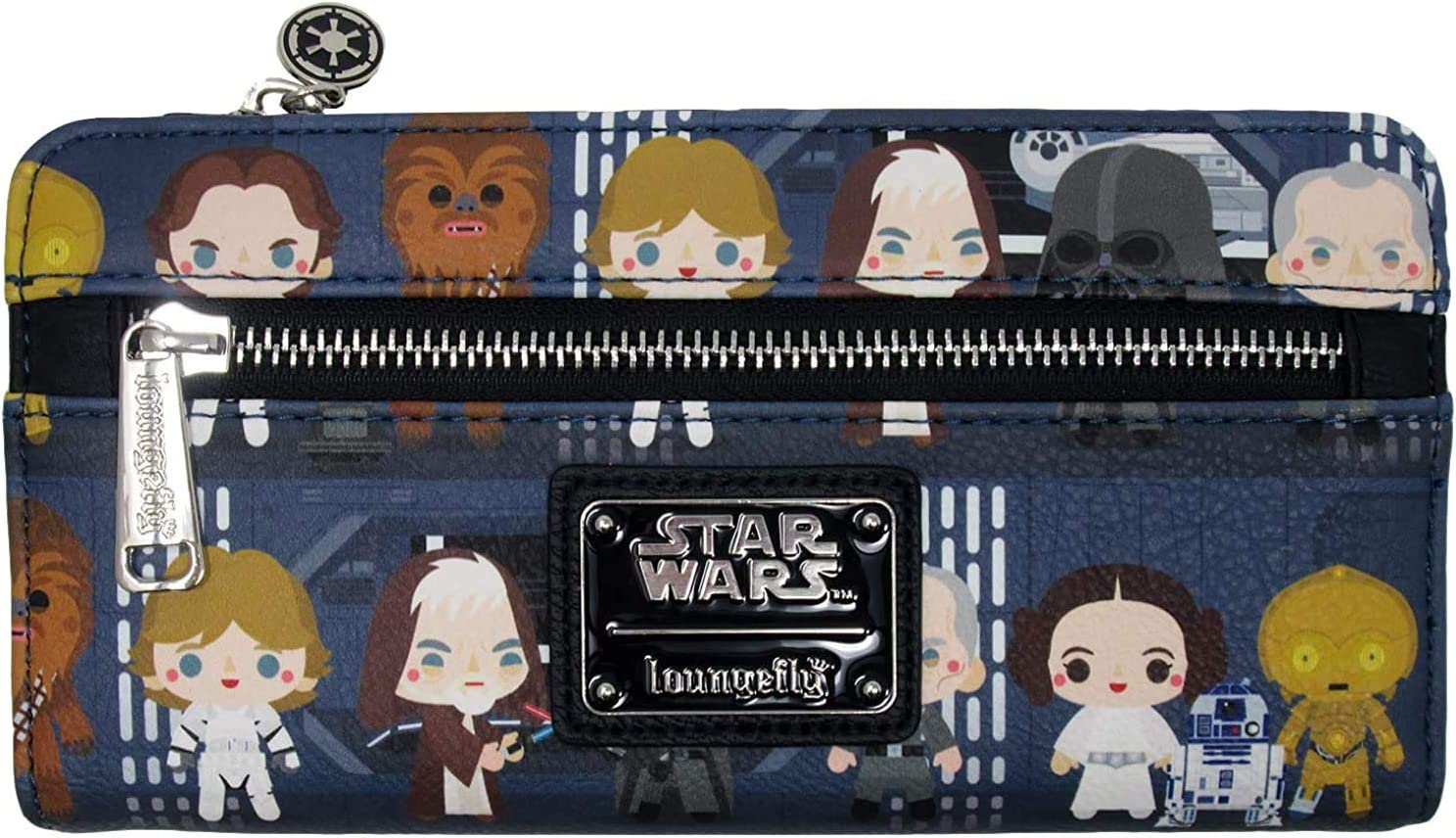 Loungefly Star Wars Death Star Chibi Characters Printed Faux Leather Wallet
