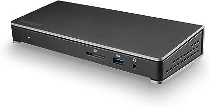 StarTech.com Dual 4K Monitor Thunderbolt 3 Dock with DisplayPort & USB C - Mac & Windows - 85W PD Docking Station (TB3DOCK2DPPD)