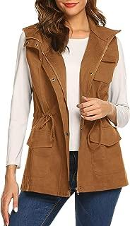 Beyove Womens Lightweight Sleeveless Military Anorak Vest