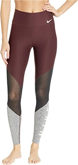 Power Mesh Wrap Graphic Gym Tights