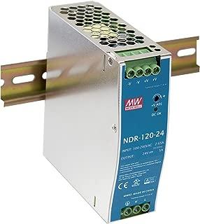 MW Mean Well NDR-120-24 24V 5A DIN Rail Power Supplies