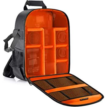 Neewer Camera Case Waterproof Shockproof 11.8x5.5x14.6 inches/30x14x37 Centimeters Camera Backpack Bag with Tripod Holder for DSLR, Mirrorless Camera, Flash