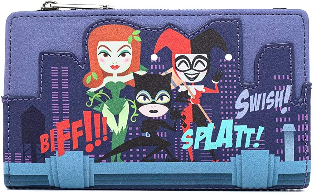 Loungefly DC Comics Gotham City Sirens Faux Leather Flap Wallet