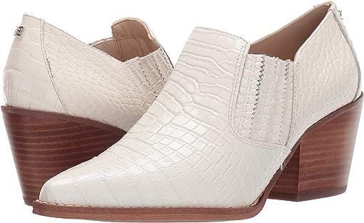 Modern Ivory Kenya Croco Embossed Leather