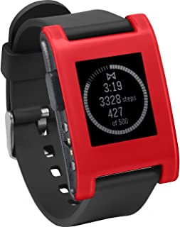 Pebble Smartwatch with Automatic Lap Counter - Cherry Red