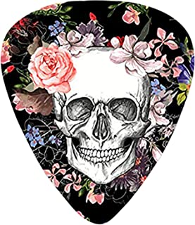 Skull Guitar Picks Gift Set(12-Pack Includes Thin Medium Heavy) for Electric Classic Bass and Acoustic Guitars Unique Guit...