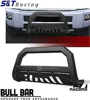 S&T Racing Textured Black Bull Bar Grille Guard AVT 1999-2007 for Chevy Silverado/GMC Sierra