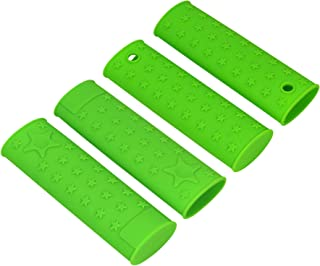 Chefs Basics Select Silicone Pan Handle Pot Holders - Set Of 4 Green