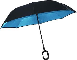 Knirps paraguas Delgado Pequeño Manual Raya Negra