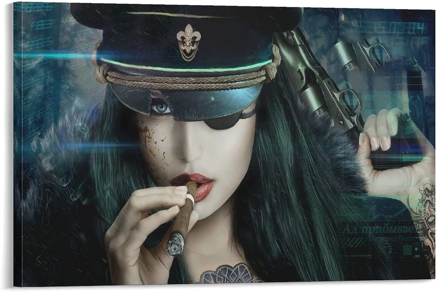 YuFeng_Art_Inn 2021 spring and summer new Digital Art Women Police Tattoo Fantasy Indefinitely Fanta