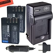 BM Premium 2 Pack of D-LI109 Batteries and Battery Charger for Pentax KP, K-R, K-S1, K-S2, K-30, K-50, K-70, K-500 Digital...
