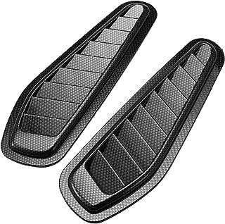 MXBIN 2 piezas ABS Race Car Hood Scoop Carbon Style Bonnet Crankcase Air Vent Valve Accesorios decorativos Cuidado y mantenimiento de automóviles.