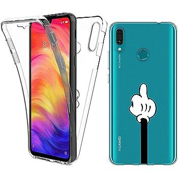 Reshias Funda para Huawei Y7 2019, Transparente TPU Silicona + PC ...