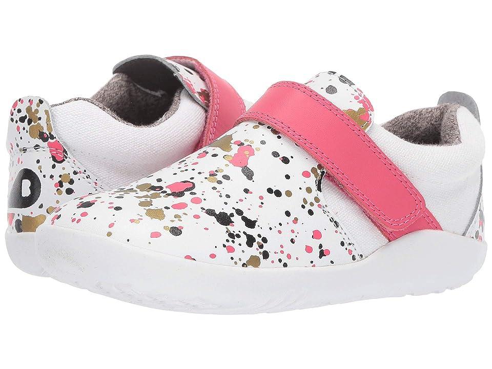 Bobux Kids I-Walk Aktiv Spekkel (Toddler) (White/Watermelon Splatter) Girl