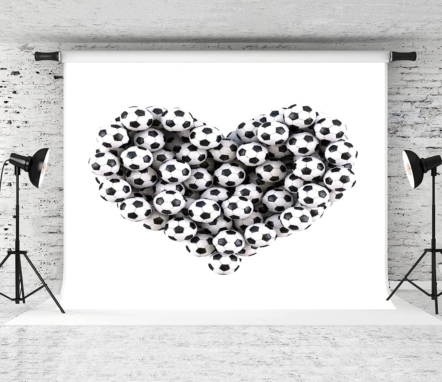 New product! New type favorite DAOPUDA Photography Background Heart from Isolated Footballs The