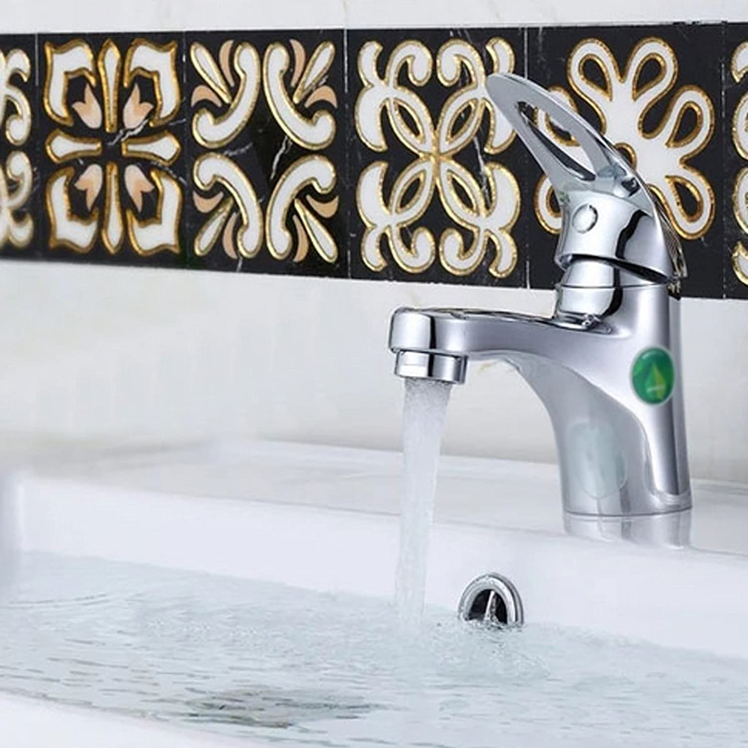 All Copper Basin Water Tap Single - Hole Hot And Cold Faucet Lead - Free Wash Basin Taipen Faucet Plating