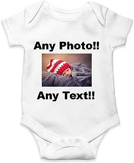 Photo bébé Body Impression personnalisée Blanc vêtements de Fille personnalisés vêtements de garçon personnalisés Toute Ph...
