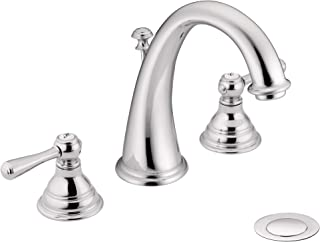 Moen T6125 Kingsley Two-Handle Widespread High-Arc Bathroom Faucet, Valve Required, Chrome