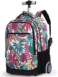 Rjj Trolley Backpack/Shoulder Bag/Computer Bag/Student Trolley Travel Bag Exquisite (Color : Yellow)