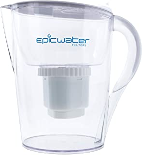 Epic Pure Water Filter Pitcher | 100% BPA-Free | Removes Fluoride, Lead, Chromium 6, PFOS PFOA, Heavy Metals, Microorganis...