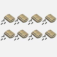 Chiavistelli Scatola Piccole Chiusura Box Latch Hasp Serratura Gioielli Scatole Fibbia Metallo Chiusura Cassetti Hasp Cassetto Antico Box Fermo in Ferro per Armadietto Portagioie in Legno Decorativo