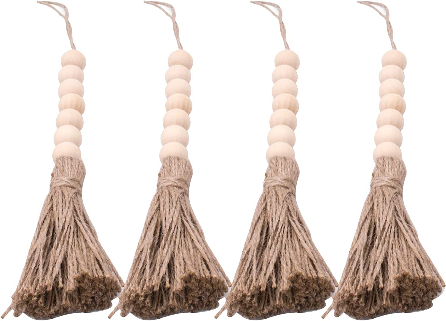 Large Wood Bead Garland Rustic Farmh Farmhouse Tassels Max 66% Bombing free shipping OFF for Beads
