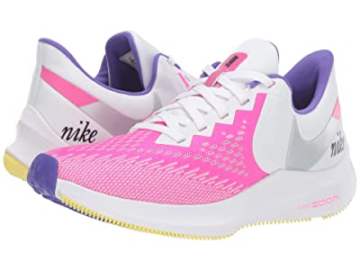 Nike Zoom Winflo 6 (White/Laser Fuchsia/Psychic Purple) Women