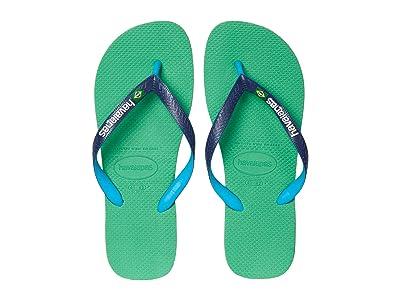 Havaianas Brazil Mix Flip Flops (Leaf Green) Men