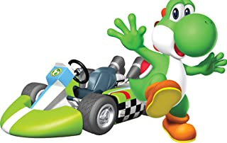 7 Inch Green Yoshi Super Mario Kart Wii Bros Brothers Removable Wall Decal Sticker Art Nintendo 64 SNES Home Kids Room Decor Decoration - 7 by 4 1/2 inches