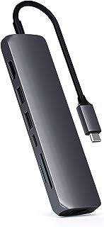SATECHI Adattatore Multiporta Slim Tipo C con Ethernet - 4K HDMI, Gigabit Ethernet, Ricarica PD USB-C - Compatibile con 20...