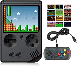 BYLGKE Electronic Retro Handheld Games Console - 8 Bit 168 Classic Games with Controller for 2 Player on TV for Kids/Adults