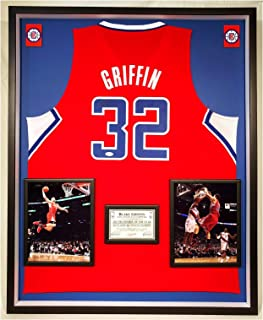 Premium Framed Blake Griffin Autographed/Signed Los Angeles Clippers Adidas Jersey - JSA COA