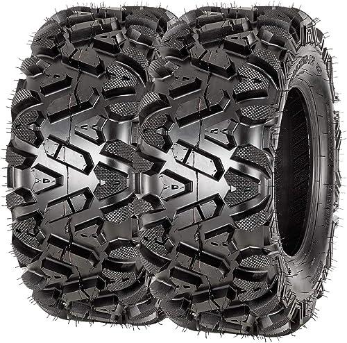 lowest VANACC outlet sale ATV Tires 25x10-12 6PR Set of 2 25x10x12 ATV wholesale UTV Tire 25 inch Tubeless outlet online sale