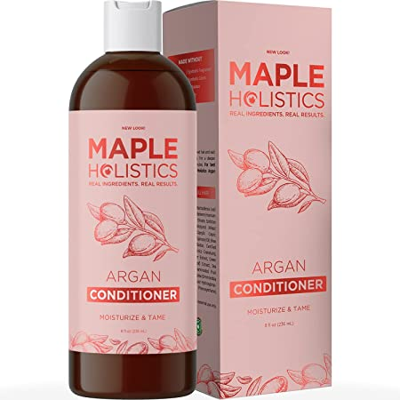 Argan Oil Conditioner for Dry Hair - Nourishing Deep Conditioner for Dry Damaged Hair and Sulfate Free Hair Moisturizer for Curly Hair Care Split Ends and Hair Volume Featuring Hydrating Natural Oils