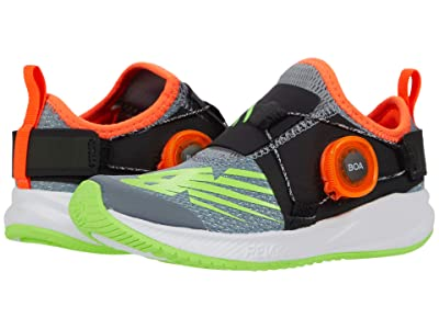 New Balance Kids FuelCore Reveal (Little Kid) (Steel/Energy Lime) Boys Shoes