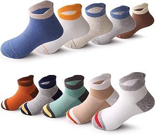 10 Pairs Kids Boys Colorful Novelty Fashion Cotton Crew Socks