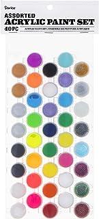 Darice 30074343 Acrylic Pot Set: Assorted Paints, 40 Colors, Multicolor