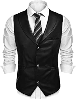 Best sleeveless leather vest men Reviews