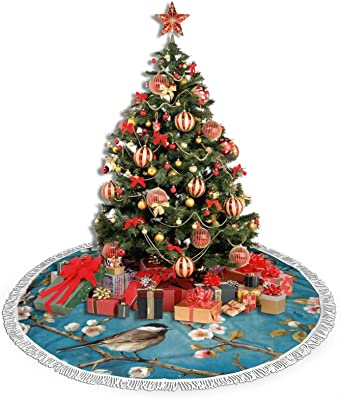 Snow White Tree Skirt Shaggy Lux Faux Fur Scallop Shape Free Cut Sheepskin Polar Bear Furs Holiday Decor Christmas Accents