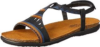 NAOT Footwear Women's Odelia Fashion Sandals, Black (Oily Coal Combo), 37 EU