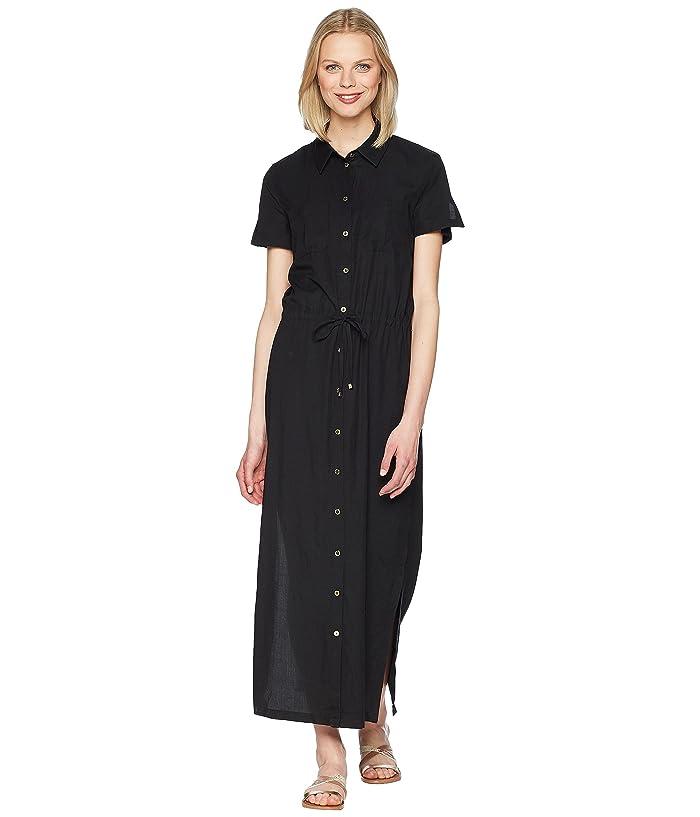 Heidi Klein Core Maxi Shirtdress (Black) Women