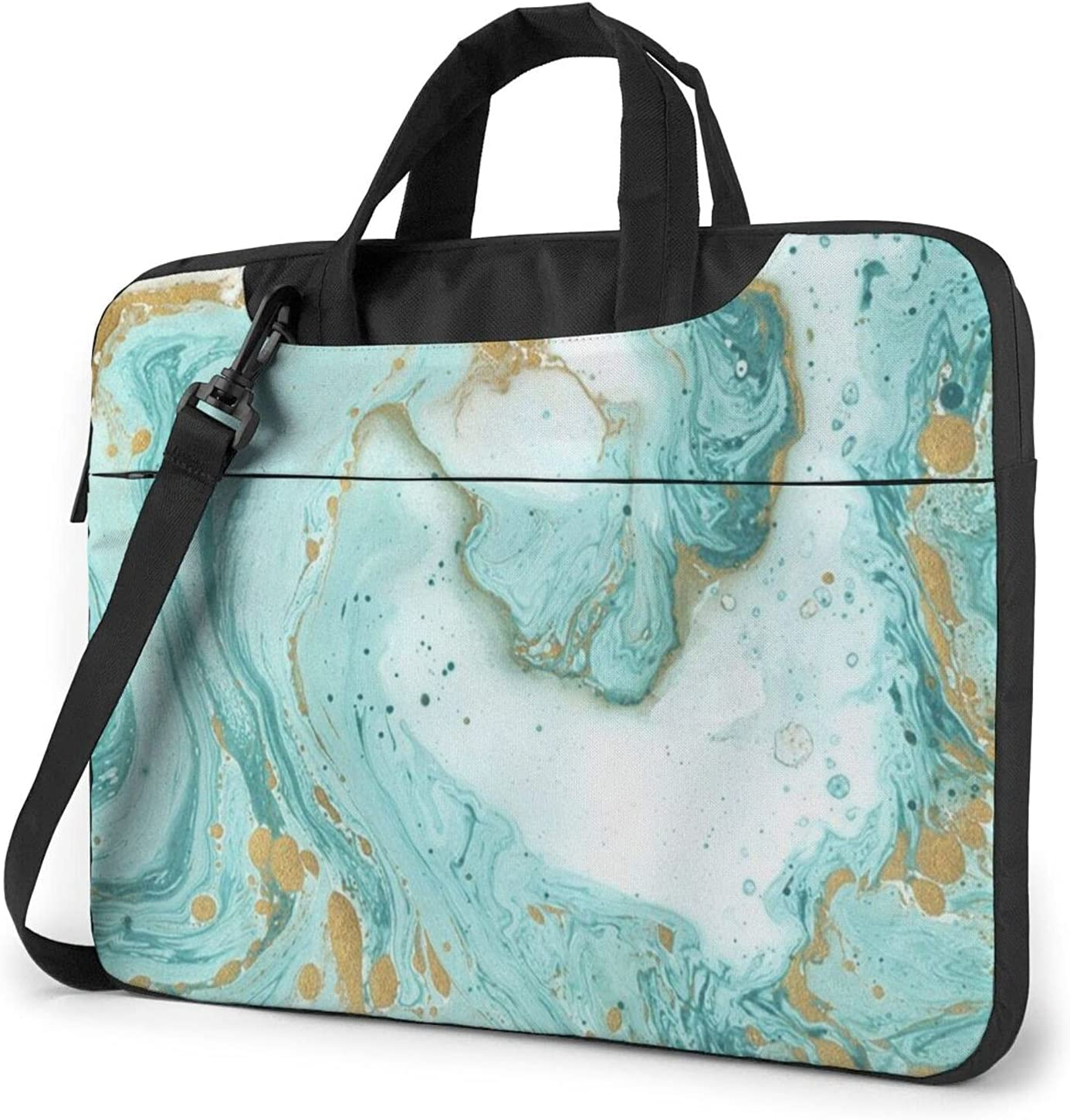 Blue Japan's largest assortment Green Marble Print Classic Should Briefcase Max 53% OFF Crossbody Slim