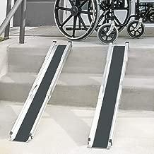 DMI Portable Wheelchair Ramp for Home, Van, Steps, Adjustable Telescoping Retractable Lightweight Wheelchair Ramp with Cover, Adjustable Length from 3 to 5 Feet, 4.5 Inch Inside Width