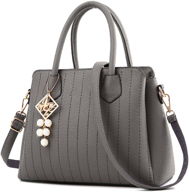 DHFUD PU-Schultertasche-Handtaschen-hohe Kapazitäts-einfache Mode Der Frauen B078MXDVYZ  Geeignet Geeignet Geeignet für Farbe 4c3340
