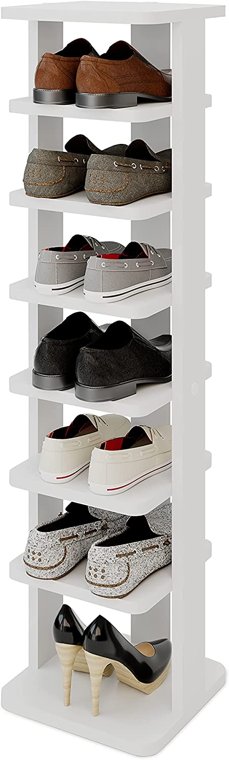 Modeazy 7 Tiers Multi 出荷 メーカー再生品 Function Vertical Rack R Shoe Wooden