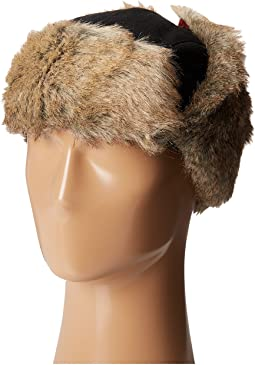 Wool Blend Trapper with Faux Fur Lining