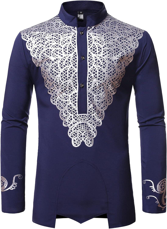 LEXUPA Arlington Mall Sweaters Pullovers Men's Traditional Bargain sale Eth Dashiki African